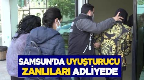 Samsun'da uyuşturucu zanlıları adliyede
