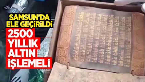 Samsun'da 2500 yıllık altın işlemeli Tevrat ele geçirildi