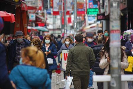 Vaka şampiyonu Samsun'da sokaklarda dikkat çeken kalabalık