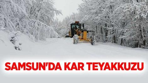Samsun'da kar teyakkuzu