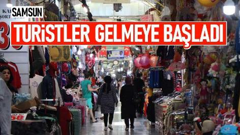 Samsun'a turistler gelmeye başladı