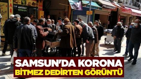 Samsun'da korona bitmez dedirten görüntü