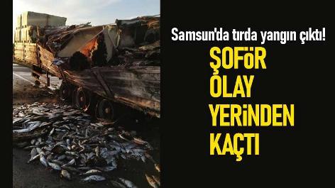 Samsun'da tırda yangın çıktı! Şoför olay yerinden kaçtı