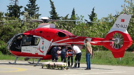 Ambulans helikopter bir günde 6 hastanın yardımına yetişerek rekor kırdı