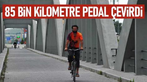 4 yılda 85 bin kilometre pedal çevirdi