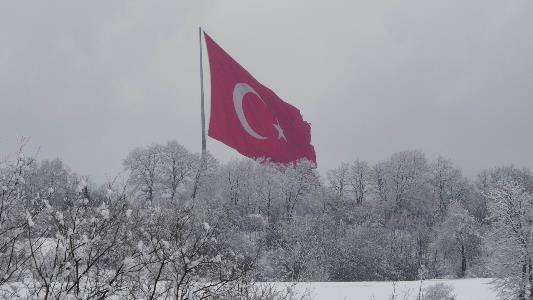 Samsun'da kartpostallık kar manzaraları