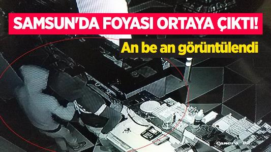 Samsun'da foyası ortaya çıktı! An be an görüntülendi