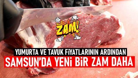 Samsun'da kırmızı ete zam geldi