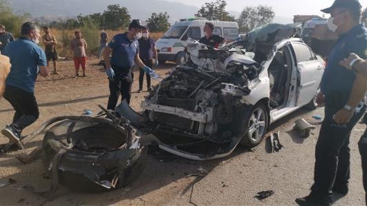 Samsun'a gelen askeri personel ve eşi kazada öldü