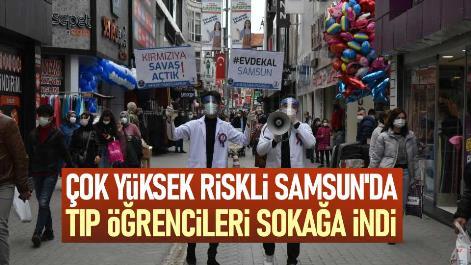 Samsun'da tıp öğrencileri sokağa indi