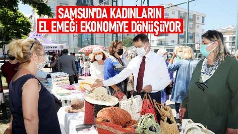 Samsun'da kadınların el emeği ekonomiye dönüşüyor