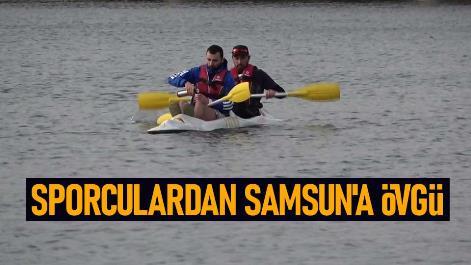 Sporculardan Samsun'a övgü
