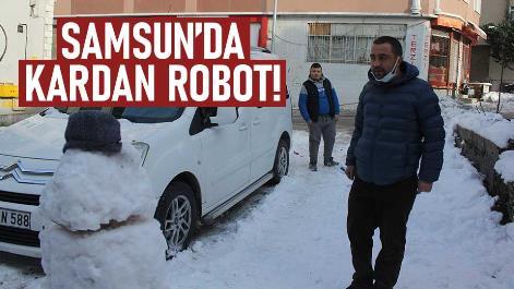 Samsun'da teknolojik kardan adam