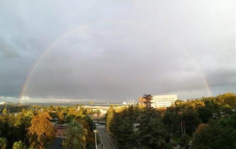 Samsun'da gökkuşağı büyüledi
