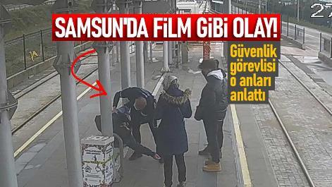Samsun'da film gibi olay! Güvenlik görevlisi o anları anlattı