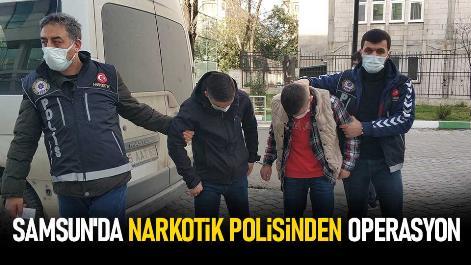 Samsun'da narkotik polisinden operasyon