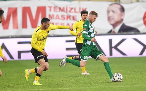 TFF 1. Lig: Bursaspor: 1 - İstanbulspor: 2 (İlk yarı sonucu)