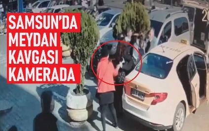 Samsun'da meydan kavgası kamerada