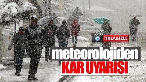 Meteoroloji Duyurdu Kar Geliyor!