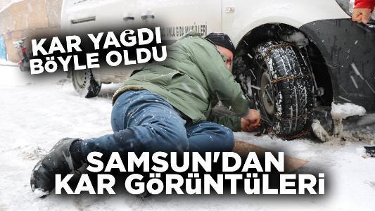 Samsun kar fotoğrafları 2020