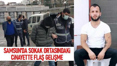 Samsun'da sokak ortasındaki cinayette flaş gelişme