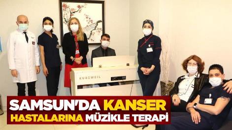 Samsun'da kanser hastalarına müzikle terapi
