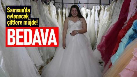 Samsun'da evlenecek çiftlere müjde! Bedava