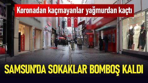 Samsun'da koronadan kaçmayanlar yağmurdan kaçtı