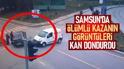Samsun'da ölümlü kazanın görüntüleri ortaya çıktı