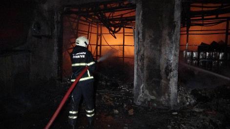 Samsun'da sanayi sitesinde yangın! Zor anlar yaşattı