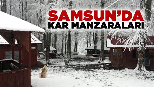 Samsun'dan Kar Manzaraları