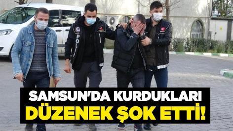Samsun'da kurdukları düzenek şok etti!
